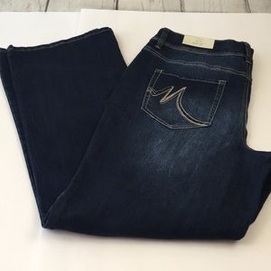 NWT Maurices Bootcut Midrise Jeans 18 reg